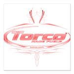 "Torco pinstripe Square Car Magnet 3"" x 3"""