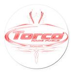 Torco pinstripe Round Car Magnet