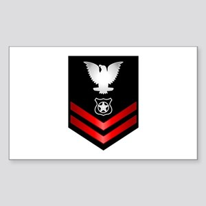 Navy PO2 Master at Arms Sticker (Rectangle)