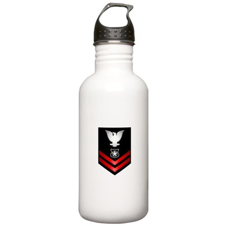 Navy PO2 Master at Arms Stainless Water Bottle 1.0