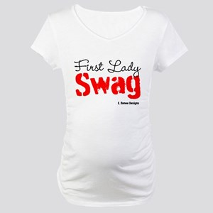 First Lady Swag-Red Maternity T-Shirt