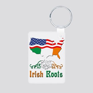 American Irish Roots Aluminum Photo Keychain