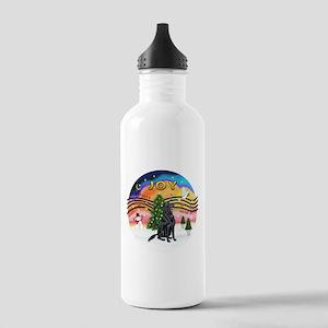 XMusic-Flat Coated Retrvr. Stainless Water Bottle
