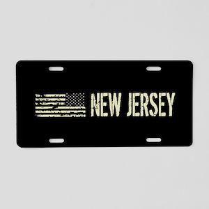 Black Flag: New Jersey Aluminum License Plate