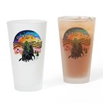 XMusic2-Two Flat Coated Retr. Drinking Glass