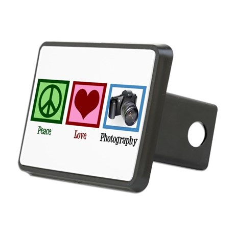 Peace Love Photography Rectangular Hitch Cover