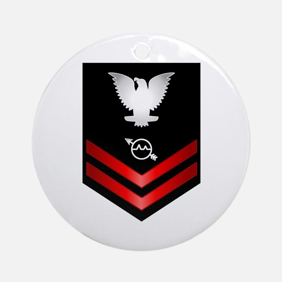 Navy PO2 Operations Specialist Ornament (Round)