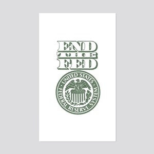 End The Fed Sticker (Rectangle)