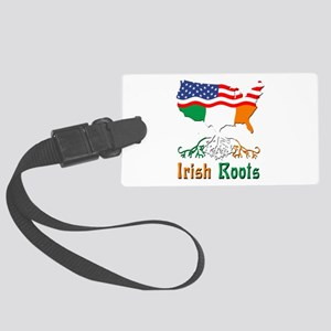 American Irish Roots Large Luggage Tag