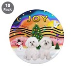 """XMusic2 - Two Bichon 3.5"""" Button (10 pack)"""