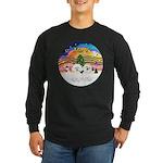 XMusic2 - Two Bichon Long Sleeve Dark T-Shirt