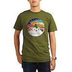 XMusic2 - Two Bichon Organic Men's T-Shirt (dark)