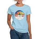 XMusic2 - Two Bichon Women's Light T-Shirt