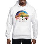 XMusic2 - Two Bichon Hooded Sweatshirt