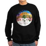 XMusic2 - Two Bichon Sweatshirt (dark)