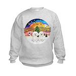XMusic2 - Two Bichon Kids Sweatshirt