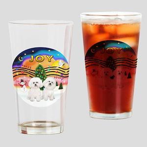 XMusic2 - Two Bichon Drinking Glass