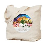 XMusic2 - Two Bichon Tote Bag