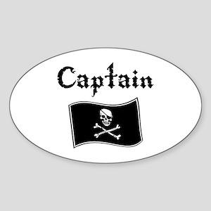Captain Oval Sticker
