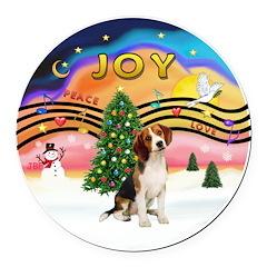 XMusic2 - Beagle Round Car Magnet