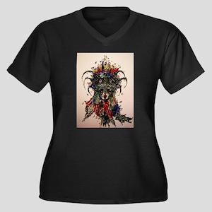 Sublimatio Women's Plus Size V-Neck Dark T-Shirt