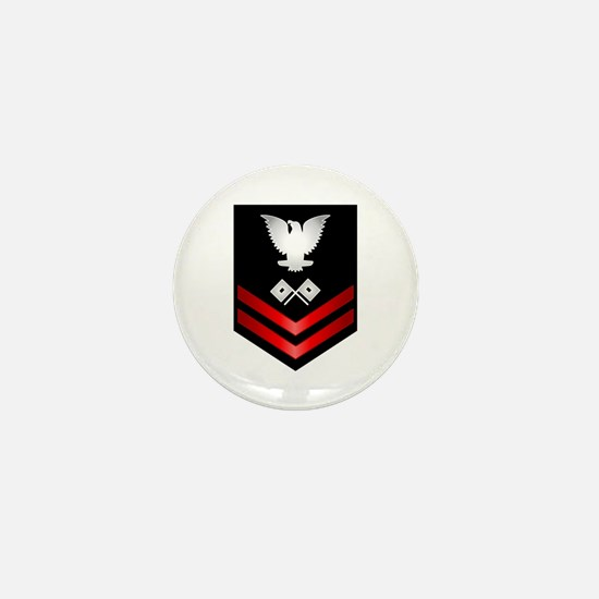 Navy PO2 Signalman Mini Button