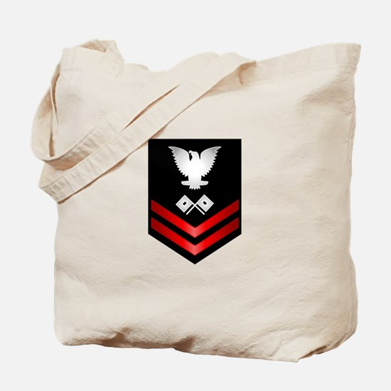 Navy PO2 Signalman Tote Bag