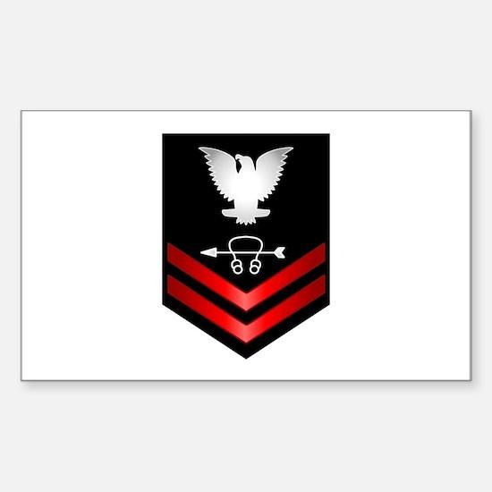 Navy PO2 Sonar Technician Sticker (Rectangle)