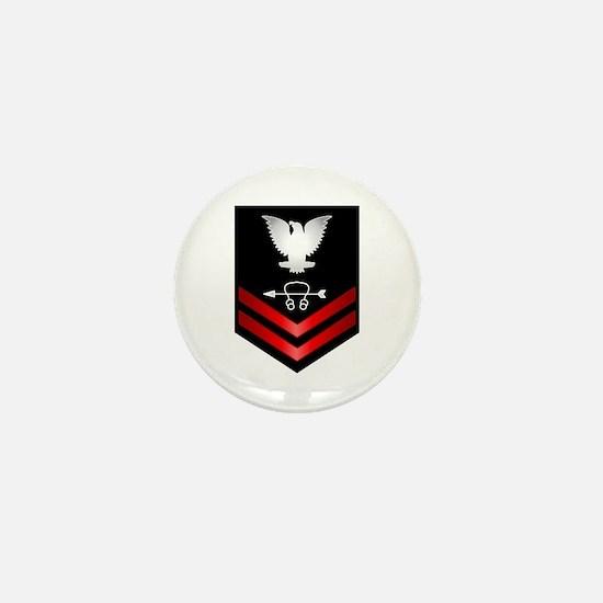 Navy PO2 Sonar Technician Mini Button