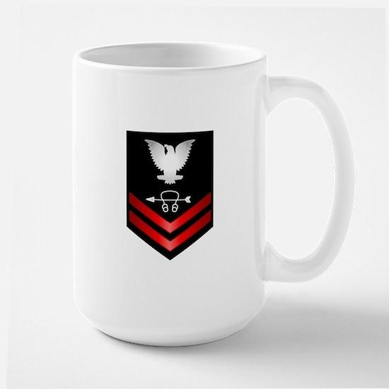 Navy PO2 Sonar Technician Large Mug