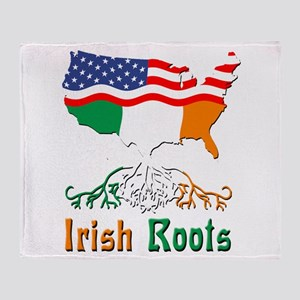 American Irish Roots Throw Blanket