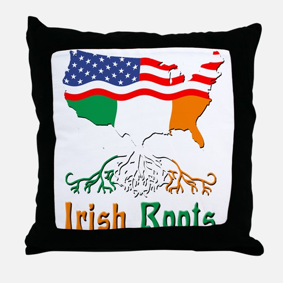 American Irish Roots Throw Pillow