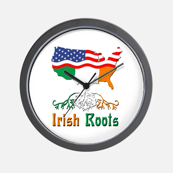 American Irish Roots Wall Clock