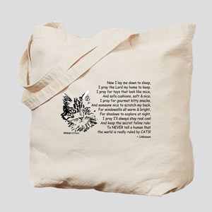 Now I Lay Me Down To Sleep Paws4Critters Cat Tote
