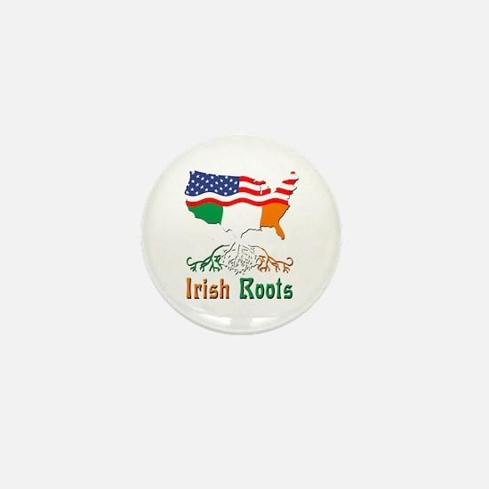 American Irish Roots Mini Button