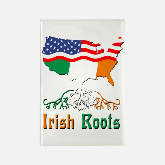 American Irish Roots Rectangle Magnet (100 pack)