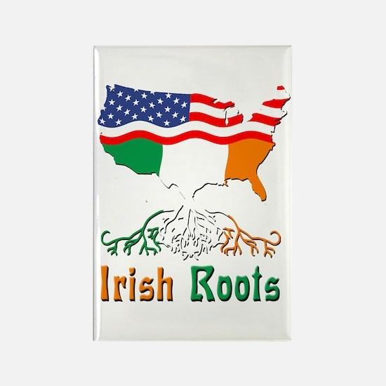 American Irish Roots Rectangle Magnet
