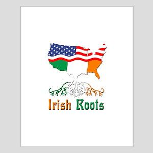 American Irish Roots Small Poster