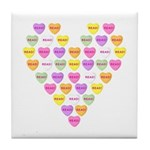 Candy Hearts Tile Coaster