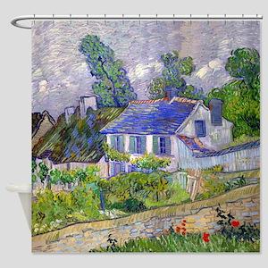 Van Gogh - Houses Shower Curtain