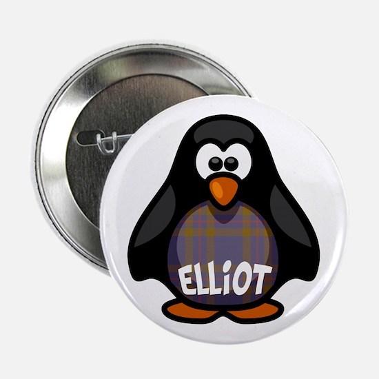 """Elliot Tartan Penguin 2.25"""" Button"""