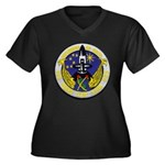 USS HENRY CL Women's Plus Size V-Neck Dark T-Shirt