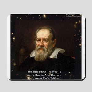 Galileo The Bible Shows Quote Gifts Mousepad