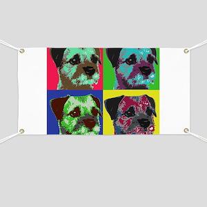 Pop Art Border Terrier Banner