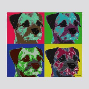 Pop Art Border Terrier Throw Blanket