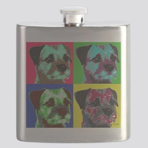 Pop Art Border Terrier Flask