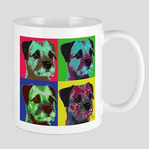 Pop Art Border Terrier Mug