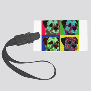 Pop Art Border Terrier Large Luggage Tag