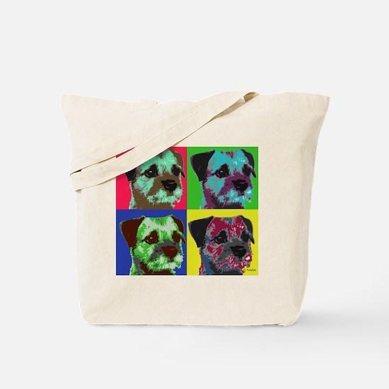 Pop Art Border Terrier Tote Bag