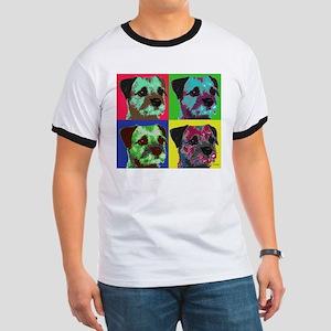Pop Art Border Terrier Ringer T